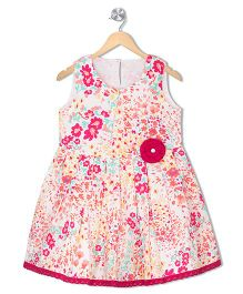 Budding Bees Girls Fit & Flare Dress - Multicolour