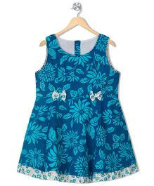 Budding Bees Girls Fit & Flare Dress - Blue