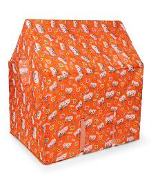 Lovely Play House Tent With Print - Orange