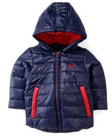 UCB Full Sleeves Hooded Jacket - Navy