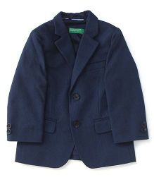UCB Full Sleeves Blazer - Navy Blue