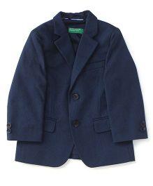 UCB Full Sleeves Blazer - Navy Blue