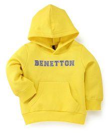 UCB Full Sleeves Hooded Sweatshirt  - Yellow