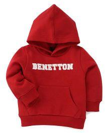 UCB Full Sleeves Hooded Sweatshirt  - Red