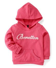 UCB Full Sleeves Hooded Sweatshirt - Pink