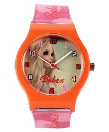 Fantasy World Analog Wrist Watch - Orange Pink