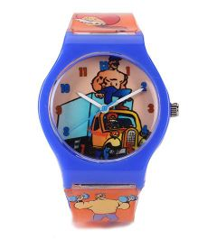 Fantasy World Analog Wrist Watch - Blue Orange