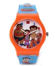 Fantasy World Chhota Bheem Analog Wrist Watch - Orange Blue