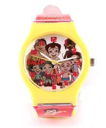 Fantasy World Chhota Bheem Print Analog Wrist Watch - Red & Yellow