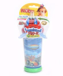 Nuby No Spill Insulated Flip It Cup Red  Blue - 330 ml