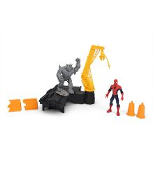 Marvel Funskool Spider Web City Rhino Rampage Set - Multi Color