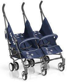 Brevi Marathon Twin Stroller - Navy Blue