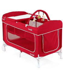 Brevi Dolcesogno Travel Cot - Red