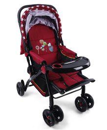 Baby Multi Print Stroller - Black Red