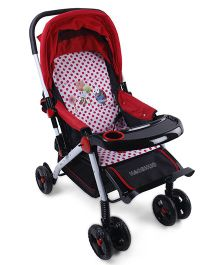 Baby Multi Print Stroller - Black White Red