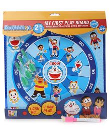 Doraemon 2 In 1 Writing And Magnetic Dart Board - Blue