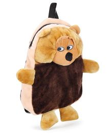 Tickles Plush Bag Chimpanzee Design Light Brown Peach - Height 14 Inches