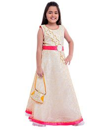 Betty By Tiny Kingdom Ethnic Evening Gown  - Cream