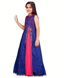 Betty By Tiny Kingdom Ethnic Evening Gown  - Blue