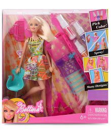 Tickles Hairtastic Color And Design Salon Barbie Doll Multicolor - 30 cm