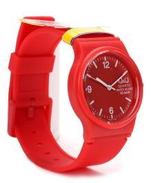 Q&Q Analog Wrist Watch - Red