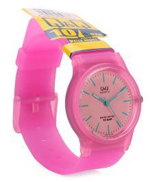 Q&Q Analog Watch - Pink & Peach