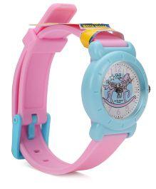 Q&Q Analog Wrist Watch - Pink Blue