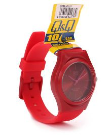 Q&Q Analog Wrist Watch - Dark Red