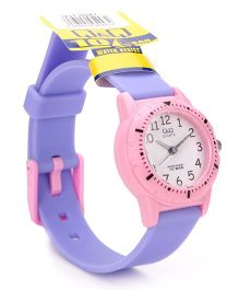 Q&Q Analog Wrist Watch - Purple & Pink