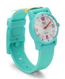 Q&Q Analog Wrist Watch - Blue Green