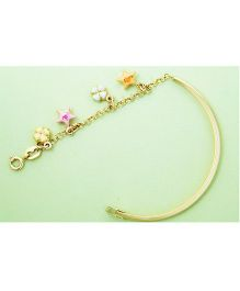 Doodles By Purvi Blooming Stars 18 Kt Gold Bracelet - Multi Color
