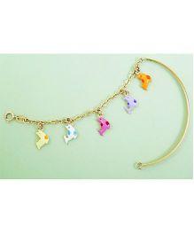 Doodles By Purvi Dearest Dolphin 18 Kt Gold Bracelet - Multi Color