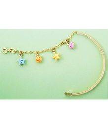 Doodles By Purvi Sweet Hearts 18 Kt Gold Bracelet - Multi Color