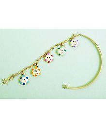 Doodles By Purvi Twinky Smiley Stars 18 Kt Gold Bracelet - Multi Color