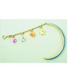 Doodles By Purvi Dazzling Blue 18 Kt Gold Bracelet - Multi Color And Blue