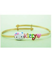 Doodles By Purvi 18 Kt Gold Hello Kitty Bangle - Multi Color