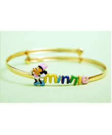 Doodles By Purvi 18 Kt Gold Minnie Bangle - Multi Color