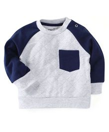 M&M Sweatshirt With Track Pant Set - White & Navy