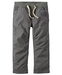 Carter's Pull-On Poplin Pants - Grey