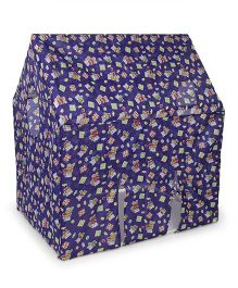 Lovely Play Tent House With Wheels Mouse Print - Blue