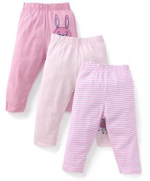 Ohms Leggings Multi Print Pack Of 3 - Pink