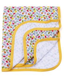 Ohms Terry Blanket Allover Print - Yellow