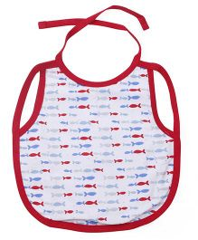 Ohms Full Chest Waterproof Fish Print - Red
