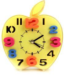Apple Shape Alarm Clock - Yellow