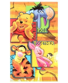 Winnie The Pooh Print  Single Line Notebook - 192 Pages
