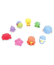 B Kids Dedees Bath Parade Bath Toys Set Multi Color - 9 Pieces