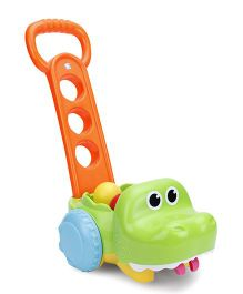 B Kids Gator Scoot N Scoop Push Along Toy - Green Orange