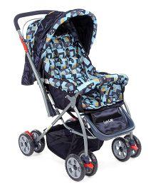 LuvLap Starshine Baby Pram cum Stroller Blue - 18218