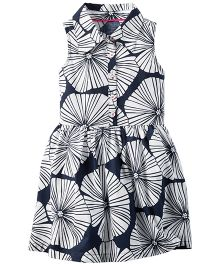 Carter's Printed Shirt Dress - Navy Blue