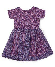 Oye Half Sleeves Printed Dress - Multi Color